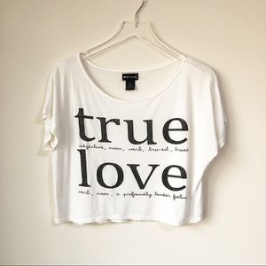 🌸 Wet Seal | True Love crop top tee